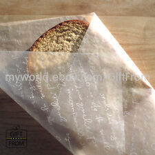 x50 Waxed Coated Glassine paper sheets_Sandwich Burger Cookie bakery food wraps