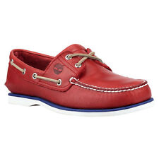 NEW MENS TIMBERLAND CLASSIC 2 EYE BOAT SHOES [6829B]  RED