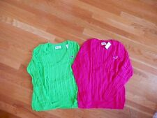 NWT Hollister Cable Knit Victoria Beach Sweater Green or Dark Pink