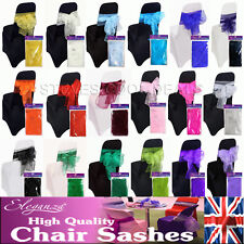 Chair Bows Sashes or Table Runner Organza Sash LUXURY stitched edge 3 meters NEW