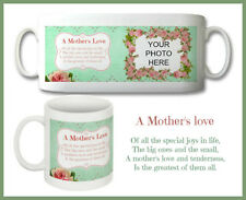 VINTAGE FLOWER & POEM PERSONALISED PHOTO MUG - MOTHERS DAY, BIRTHDAY, ANY DAY