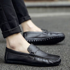 New Summer Men's Casual Leather Slip Ons Loafers Driving Moccasins Shoes C260