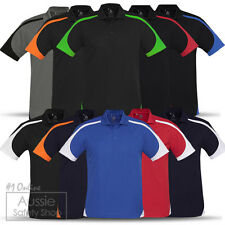 3 X SPORTS CLUB GYM BUILDER COOL BREEZE CONTRAST BREATHABLE OFFICE POLO SHIRTS