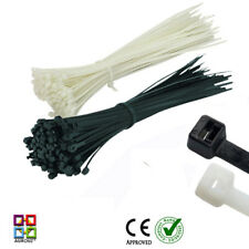 Nylon Plastic Cable Ties Zip Tie Wraps 100mm 200mm 300mm Black White/Natural