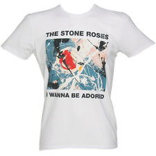 Mens White Wanna Be Adored Stone Roses T-Shirt from Amplified Clothing