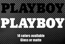 PLAYBOY die cut decal sticker Different Sizes and Colors Available