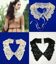 New Vintage Boho Lace Multi Detachable Collar Wrap Tie Necklace Choker Peter Pan
