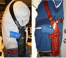 Gazelle Premium Vertical Leather Shoulder Holster For...