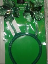 Headbands Headboppers Green Sequins Feathers Felt Happy St Patricks Day NIP