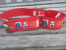 Star Wars dog collar, Star Wars inspired Ribbon dog Collar, Martingale 1.5