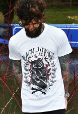 Mens Hobo Jack Black Wing Owl tshirt fresh t shirt printed dope tee vintage look