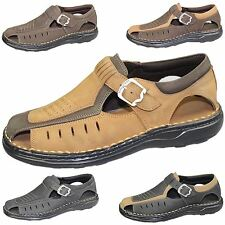 MENS SANDALS BOYS SUEDE NUBUCK LEATHER SUMMER FASHION MULES SPORTS CASUAL SHOES