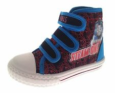 Boys Canvas Pumps Thomas The Tank Engine Hi Tops Boots Trainers Size UK 5 to 10