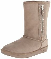 Skechers Shelbys Toronto WOMEN'S Ugg Slip On Boots Suede/Faux Fur Taupe 48602TPE