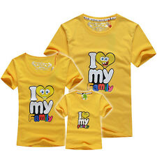 father mother child kids man women boy girl summer natively clothes t shirt TB96