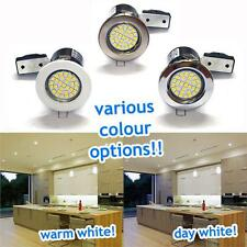 240V GU10 FIRE RATED RECESSED DOWNLIGHTER FITTINGS POLISHED CHROME WHITE BRUSHED