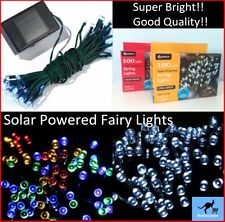 Dual Function 50/100 LED Solar Powered String Fairy Lights Cool White MultiColou