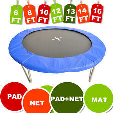 Trampoline Safety Net Enclosure Surround Padding Pad 6ft/8ft/10ft/12ft/13ft/14ft