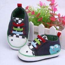 Cute Baby Boy Girl Soft Sole Shoelace Crib Shoes Toddler Sneakers 0-12Months B42