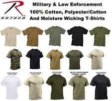 Solid Color & Camouflage Short Sleeve 100% Cotton & Polyester & Cotton T-Shirt