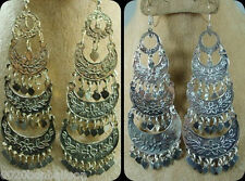 wholesale 12 Belly dance Earrings dangle COINS jewelry