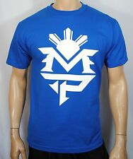 Manny Pacquiao Training T Shirt Pacman Money Tee Boxing Mens Blue MP