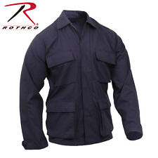 Navy Blue Military Police Tactical 100% Cot Rip-Stop Fatigue BDU Shirt 8803