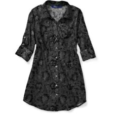 Miley Cyrus Juniors Semi-Sheer Printed Lace Cotton Tunic Top XS S M LG NEW