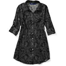 Miley Cyrus Juniors Semi-Sheer Printed Lace Cotton Tunic Top S M LG NEW