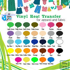 "IRON-ON Heat Transfer Vinyl ALL Cutting Machines Tshirts - 10"" x 5 yards Roll"