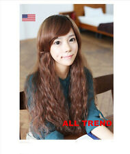 New Fashion Sexy Women Girls Wavy Curly Long Hair Full Wig Party Costume Wigs