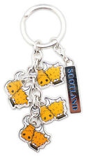 Scottish Saltire Toffee Highland Cow Coo Scotland Bag Purse Keyring Charm