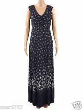 New Ex PER UNA Blue Floral Maxi Dress Sleeveless V Neck Holiday Size 8-24 Party