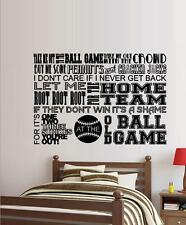 Take Me Out To The Ballgame Subway Art ~ Wall or Window Decal