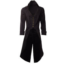 New Steampunk Grim Long Trench Coat Jacket Gothic Victorian Vintage Cosplay