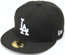 MLB Los Angeles Dodgers Black/White LA New Era 59Fifty Fitted Hat