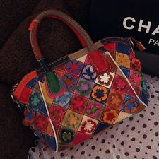 2015 Fashion Womens Shoulder Handbag Genuine Leather cow Leather Patchwork Bag
