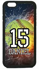 Personalized Number and Name Softball Case for iPhone 4 4s 5 5s 5c 6 6 Plus
