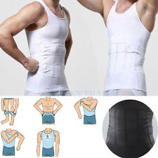 Men's Body Shaper For Men Slimming Shirt Tummy Waist Vest lose Weight White