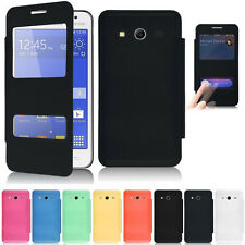 Flip Leather Battery Cover Case Skin Dual Window for Samsung Galaxy Core 2 G355H