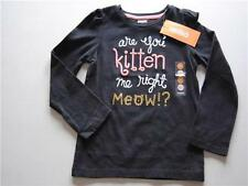 Gymboree Right Meow Black Shirt Top Are You Kitten Me 6-12-18-24 2T 3T 4T 5T New
