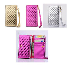 luxury universal Wallet Card holder PU leather Case Cover with strap for ZTE