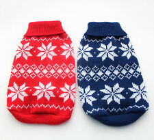 Red/Blue Christmas dog sweater Snow-Flakes design,pet Coat Jumper clothes