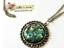 New Fashion Fairy Graceful Peacock Feather's Figure Pendant Chain Necklace