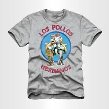 Breaking Bad LOS POLLOS HERMANOS T-Shirt Men's Gray NWT Licensed & Official