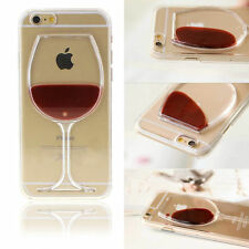 3D Liquid Flowing Freely Beer Wine Glass Cocktail Bottle Case For Apple iPhone