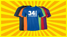 34th Birthday T Shirt Happy Birthday T-Shirt Funny 34 Years Old Tee 7 COLORS
