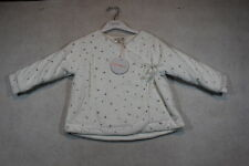 Baby Girls Size 000,00,0,1,18m Fox & Finch Winter White Jacket With Rose Print