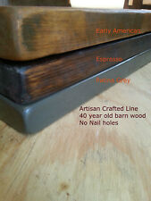 Reclaimed Barn Wood Floating Shelf - Hand Made in USA - 100+ Year Old Lumber