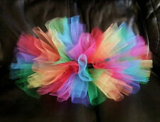 Handmade BABY GIRL RAINBOW TUTU SKIRT NEWBORN TODDLER